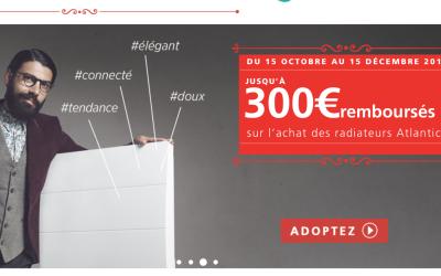 Promotion sur les radiateurs Atlantic